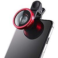 Universal Clip-On 3 in 1 Mobile Cell Phone Camera Lens Kit 180 Degree Fisheye Lens + 0.67X Wide Angle + 10X Macro Lens
