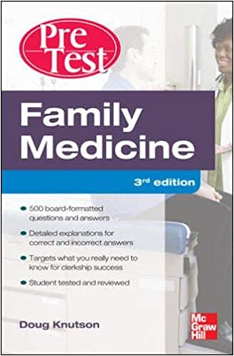 Kết quả hình ảnh cho Family Medicine PreTest Self-Assessment And Review, Third Edition [3 ed.]