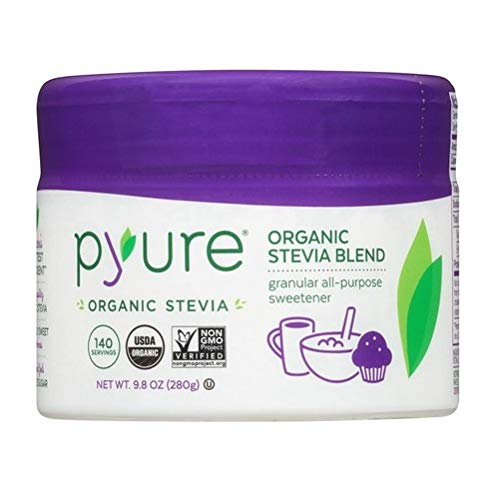 Pyure Organic All-Purpose Blend Stevia Sweetener, Sugar Substitute, Flip-Top Tub, 9.8 Ounce by Pyure (Image #1)