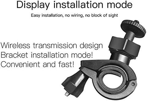 Nrpfell Sistema de Alarma de Monitoreo de Temperatura de Presi/ón de Neum/áticos Tpms de Motocicleta Carga Solar USB con 2 Sensores Externos
