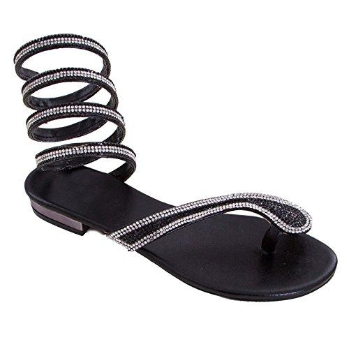 Toocool Mujer sandalias romanas base nero