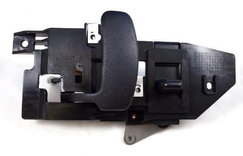 PT Auto Warehouse GM-2901A-FL - Inside Interior Inner Door Handle, Black Housing with Black Lever - Driver Side Front ()
