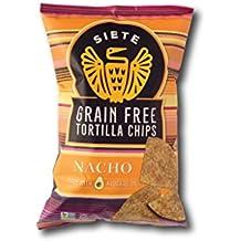 Siete Grain Free Tortilla Chips, Nacho, 5 oz