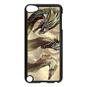 Ancient Dragon iPod TouchCase Black TPU Phone Case SV_241618