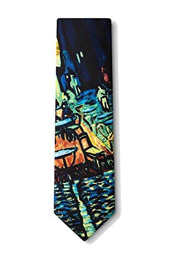Men's Silk Cafe Terrace Flower Vincent Van Gogh Art Necktie Tie Neckwear Art Necktie