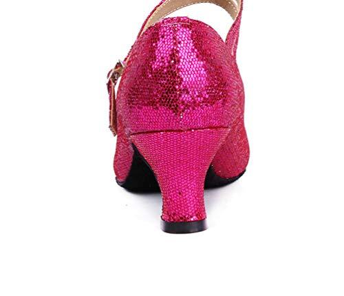 Damen Dance Sandalen amp; Rose Schuhe Ballsaal Latein CHENYANG Ausgestelltes Tanzschuhe Mädchen Standard dUwWqdzH