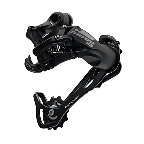 SRAM X5 Aluminum 9 Speed Mountain Bike Rear Derailleur (Black – Medium Cage)