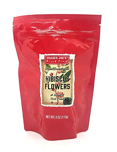 Trader Joes' Dried Sweetened Hibiscus Flowers Snack 4 Oz.