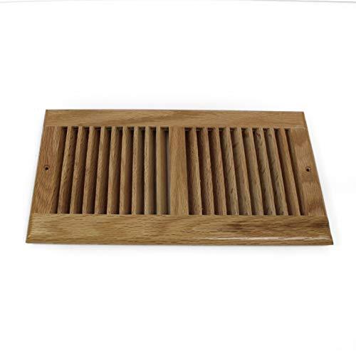 Floor Insert Wood Register - WELLAND 6 X 12 Inch Clear Finished Red Oak Wood Vent Floor Register Self Rimming,3/4