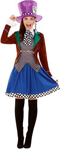 Ladies Classy Hatter Alice Wonderland Fairy Tale Fun Halloween Carnival Fancy Dress Costume Outfit (UK 4-6)]()