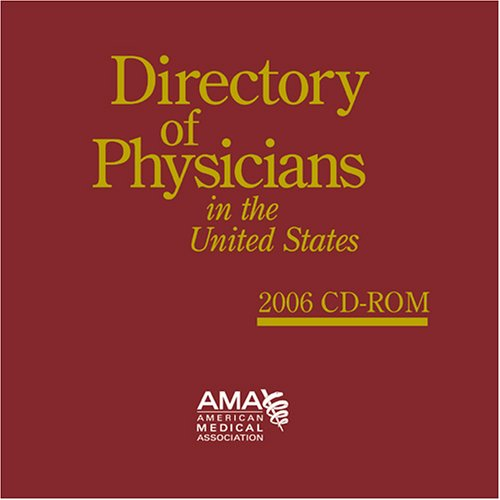Directory of Physicians in the US, 2006, 10-19 Users pdf epub