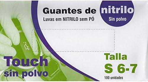 GUANTE NITRILO AZUL TOUCH 100ud.PEQ