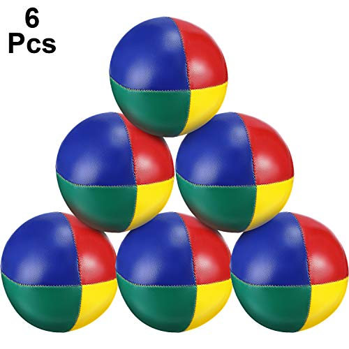 Tatuo 6 Pieces Juggling Balls Set, Quality Mini Juggling Balls, Durable Juggle Ball Kit, Soft Juggle Balls, Multicolored