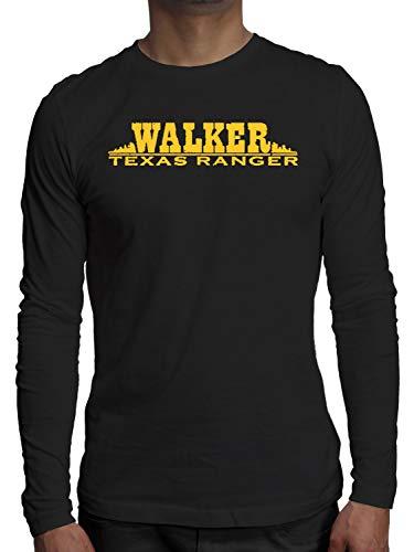 Young Motto Men's Walker Texas Ranger Long Sleeve (Texas Rangers Long Sleeve)