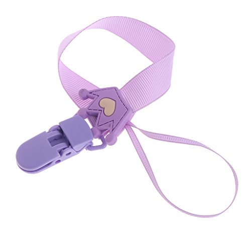 ForHe Baby Pacifier Chain Clip Holder Nursing Teether Dummy Soother Nipple Leash Strap (Purple)