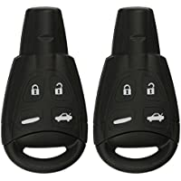 KeylessOption Keyless Entry Remote Control Car Key Fob Replacement for Saab LTQSAAM433TX (Pack of 2)