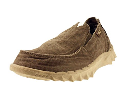Hey Dude Farty Washed gris - Chaussures Mocassins Homme