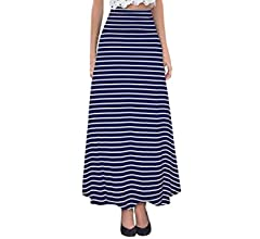 fbd2d854d0 Hybrid & Company - Women's Maxi Skirt W/ Fold Over Waist Band - Made in the  USA, Black, Small at Amazon Women's Clothing store: