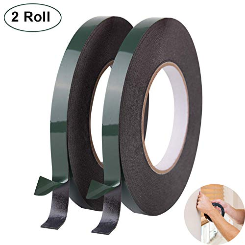 Double Sided Foam Tape - 2 Pack, 12mm x 10m Ultra