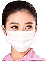 Win 3 Layer Non-woven Fabric Disposable Surgical Dust Filter Ear Loop Mouth Cover Face Mask White Color Pack of 50 reviews