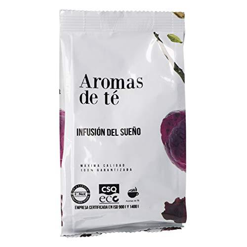 Aromas de Te - Te Rooibos Infusion del Sueno Relajante con Azahar, Valeriana, Espliego, Manzana y Ceral Azul a Granel, 100 gr