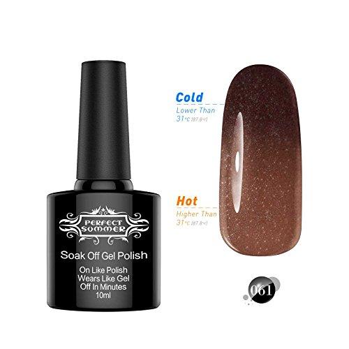 Perfect Summer Color Changing Chameleon Gel Nails Polish Gloss Shiny UV Led Soak Off Salon Nails Lacquers Fashion