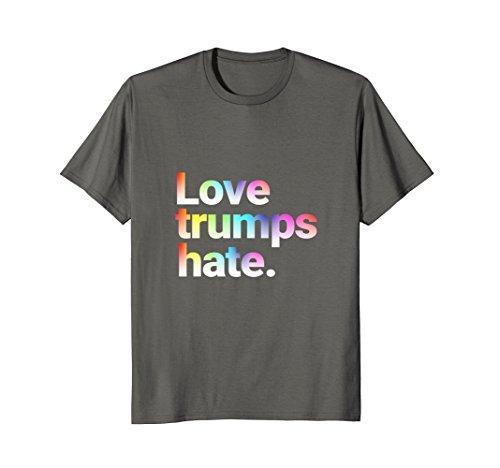 Colorful Love Trumps Hate T Shirt Anti-Trump Bernie