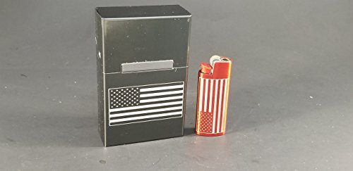 American Flag Metal Cigarette Box (shorts only) - Many ()