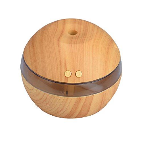 SmartK LED Ultrasonic Air Aroma Essential Oil Diffuser Aroma Aromatherapy Humidifier (Khaki)
