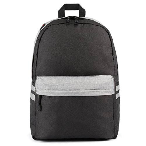"""Kattee - Mochila Escolar para Hombres y Mujeres para Portátiles Menos de 15.6 """" de Hombro Impermeable Backpack de Poliéster Negro"""