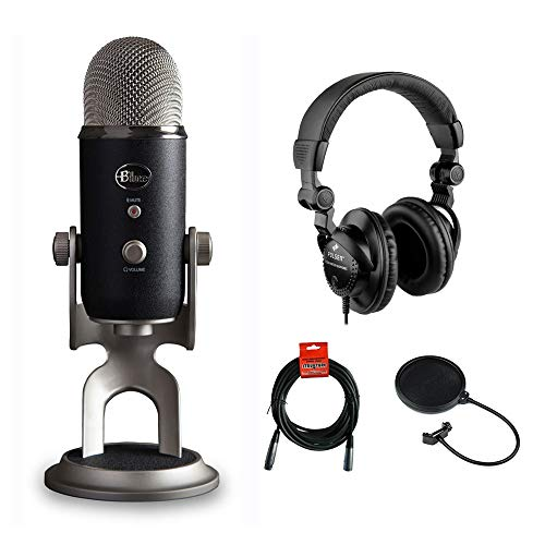 Blue Yeti Pro Studio All-In-One Pro Studio Vocal System with HPC-A30 Studio Monitor Headphones, Pop Filter & 20' XLR Cable Kit