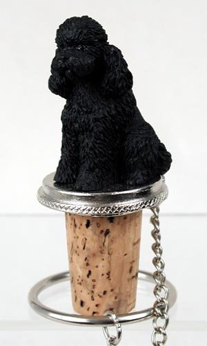 (Conversation Concepts Poodle Black Sport Cut Wine Bottle Stopper From)