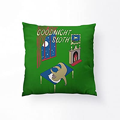 Sharp Shirter Goodnight Sloth Throw Pillow - 14&Quot; X 14&Quot; - Sharp Shirter