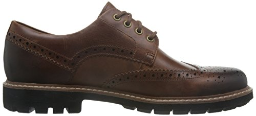 Clarks Batcombe Wing, Scarpe Stringate Derby Uomo Marrone (Dark Tan Lea -)