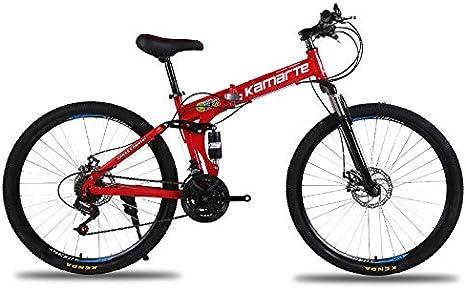 Link Co Freno de Disco Bicicleta de montaña Velocidad Bicicleta Plegable 26 * 17 Pulgadas,Red: Amazon.es: Deportes y aire libre