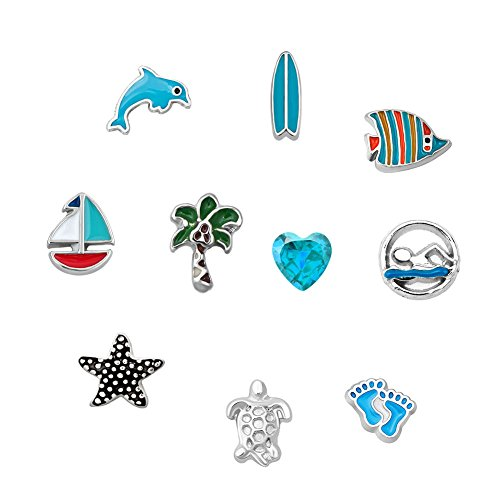 Charms For Floating Lockets - DemiJewelry Holiday Sea Dolphin Floating Charms