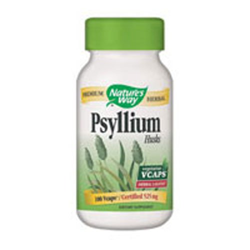 Nature's Way - Psyllium Husks, 180 vegi caps ( pack of 6)