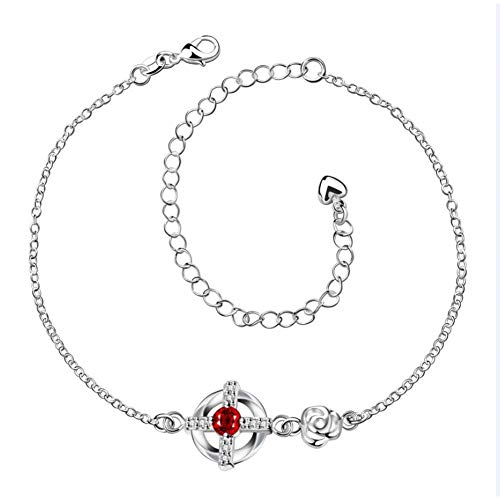 CTRCHUJIAN Summer Style Silver Round Cross Ankle Leg Bracelet Feet Crystal Heart Shape Charm Anklet Female