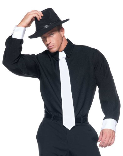 [Men's Mobster Costume - Shirt] (Mafia Themed Costume)