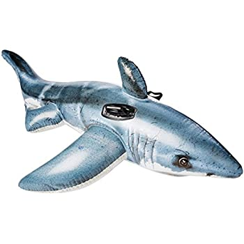 """Intex Great White Shark Ride-On, 68"""" X 42"""", for Ages 3+"""