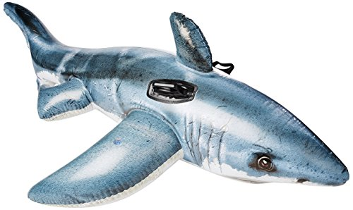Intex Great White Shark Ride-On, 68'' X 42'', for Ages 3+ by Intex
