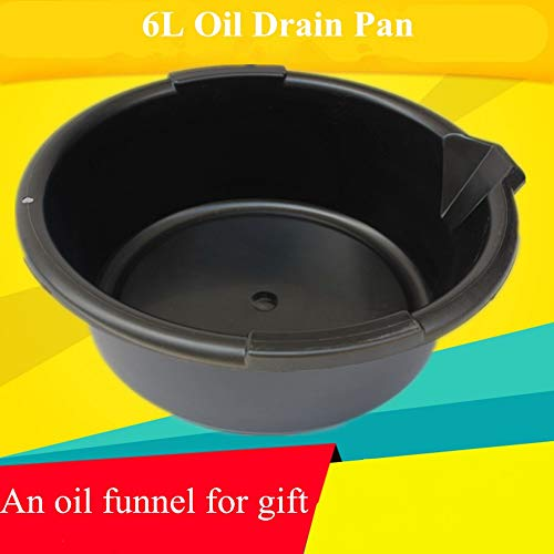 (Repair Tool 6L Plastic Circle Oil Drain Pan Collecting Engine Waste Oil Pot Petrol Collector Tank Fluid Drainer Automotive Repair)