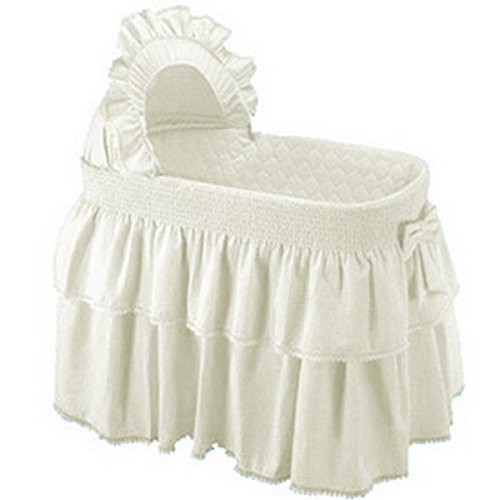 Babykidsbargains Paradise Rainbow Ecru Bassinet Liner Skirt and Hood, 13'' x 29'' by babykidsbargains