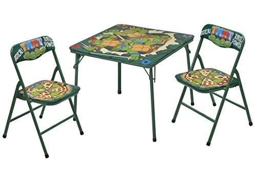 3 Piece Set Game Table (Nickelodeon Teenage Mutant Ninja Turtles 3-Piece Table and Chair Set)