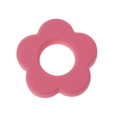 Yuanhaourty Silicone Teething Beads DIY Accessories Flower Design Baby Teething Nursing Chewing Toy Ideal Shower Gift : Baby