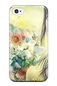 3412036K88283157 Slim Fit Tpu Protector Shock Absorbent Bumper Pretty Girl With Flowers Case For Iphone 6 plus 5.5