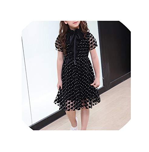 Kids Elegant Dress for Girls Costumes Teen Girl Summer Dresses Party Teenage Clothing Kids Casual Dresses for Children 6 16 Year,Black,6 ()