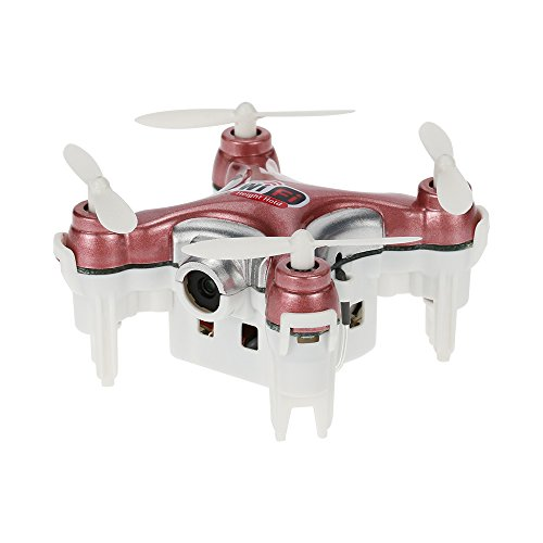 MeterMall Cheerson CX-10WD-TX 2.4GHz 4CH 6-axis Wifi Quadcopter 3D Eversion Mini Drone With 0.3MP Camera(Pink without…