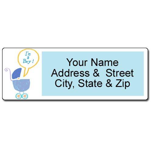 It's a Boy Address Label - Customized Baby Return Address Label - 90 Labels