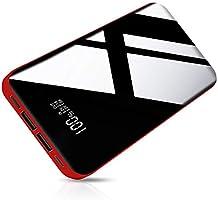 26800mAh モバイルバッテリー 大容量 【PSE認証済】急速携帯充電器 2USB出力ポート&3入力ポート LCD残量表示 鏡面仕上げデザイン 持ち運び便利 iPhone/iPad/Android機種対応